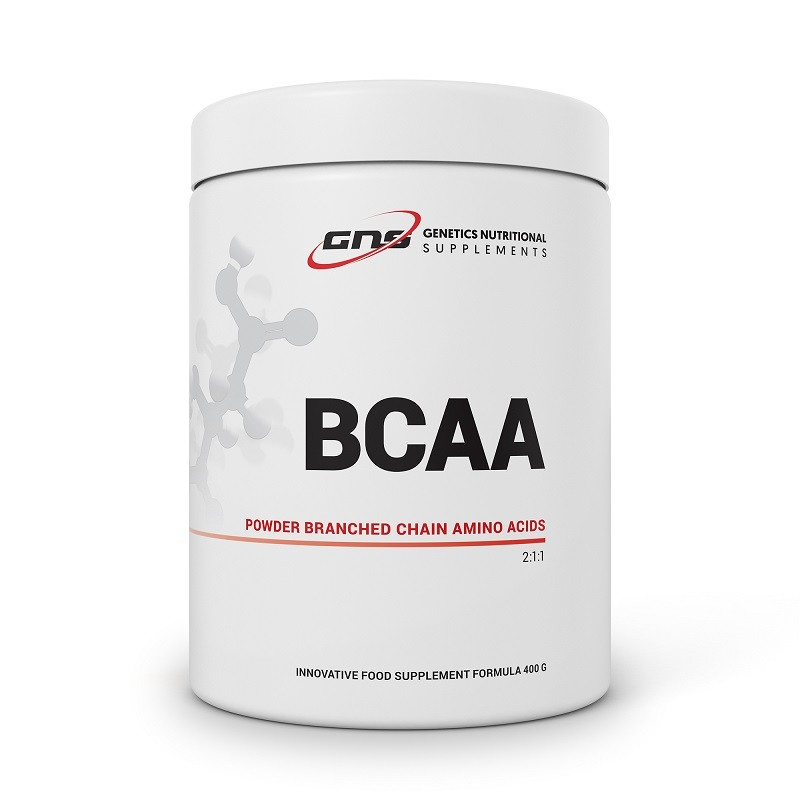 BCAA POWDER BRANCHED CHAIN AMINO ACIDS 2:1:1 400 G GENETICS NUTRITIONAL SUPPLEMENTS
