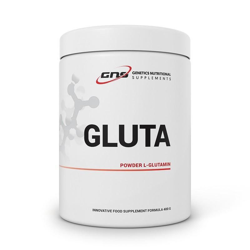 GLUTA POWDER L-GLUTAMINE 400 G GENETICS NUTRITIONAL SUPPLEMENTS